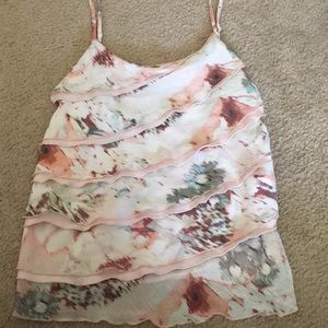 NY&C floral ruffled front tank top
